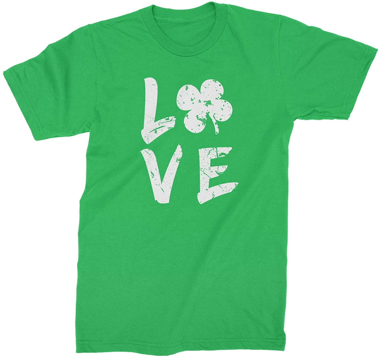 Expression Tees Love Shamrock Clover Mens T-Shirt