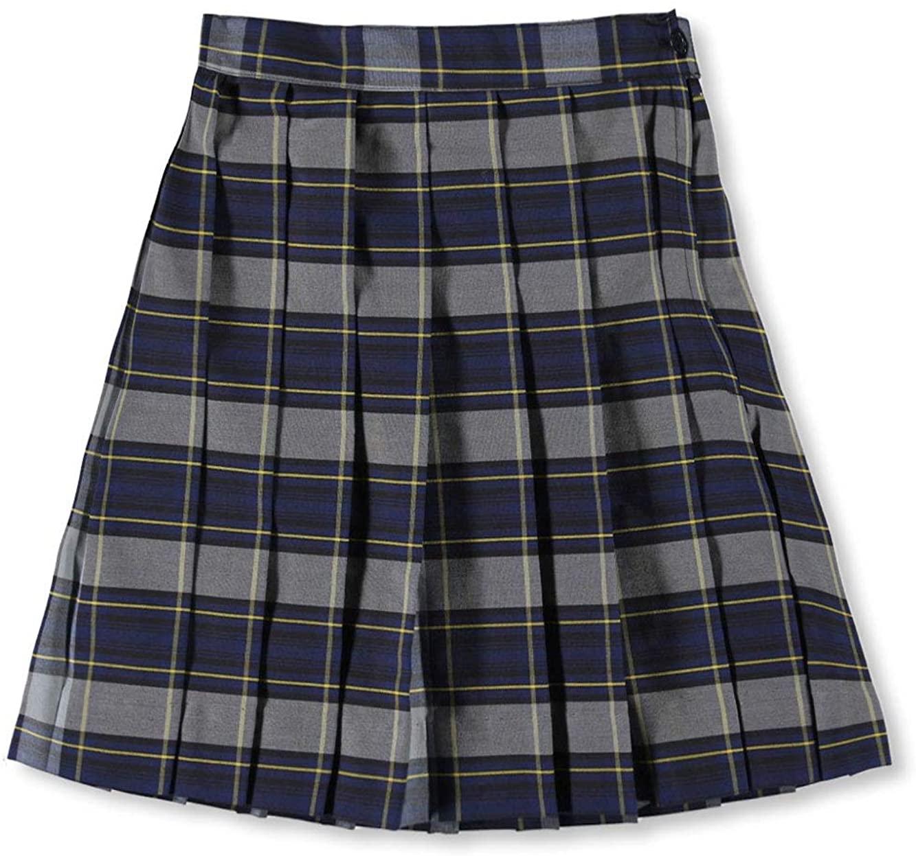 Cookie's Big Girls' Pleated Skirt - Royal/lt. Blue/goldplaid #57, 20