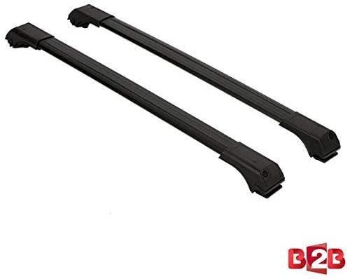 BRAND B2B Roof Racks Cross Bars Carrier Cargo Racks Rail Aluminium Black Set Fit for Nissan X-Trail 2014-UP
