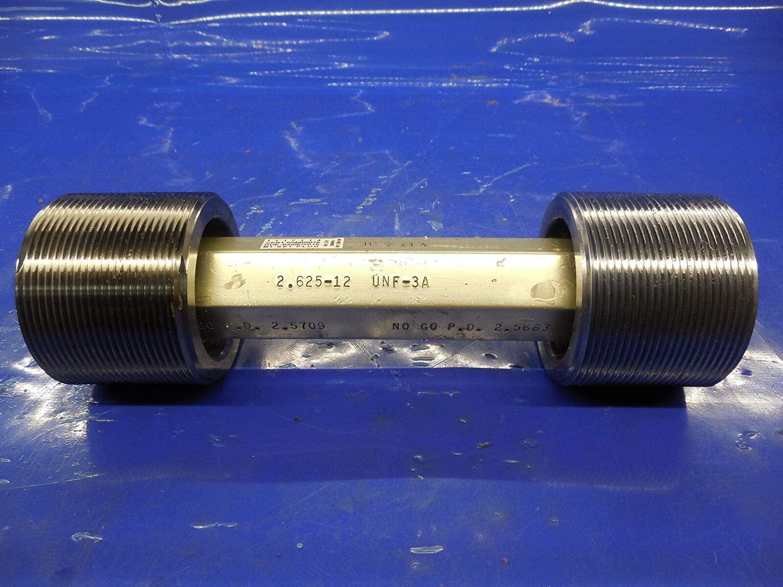 2 5/8 12 UNF 3A Set Thread Plug GAGE 2.625 GO NO GO P.D.'S = 2.5709 & 2.5663