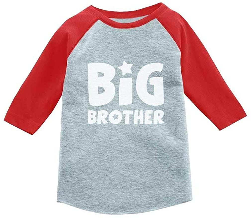 Big Brother Gift Idea for Elder Sibling 3/4 Sleeve Baseball Jersey Toddler Shirt