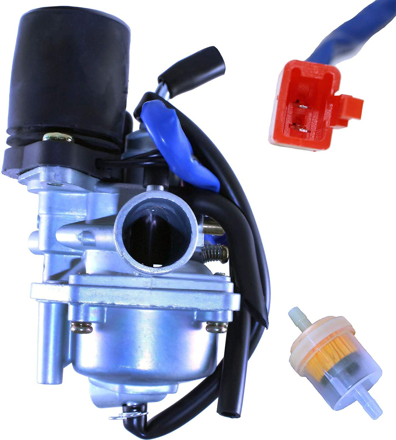 GLENPARTS Carburetor for CPI City Oliver 50cc 49cc Scooter Moped 2 Cycle Genuine Buddy 50cc