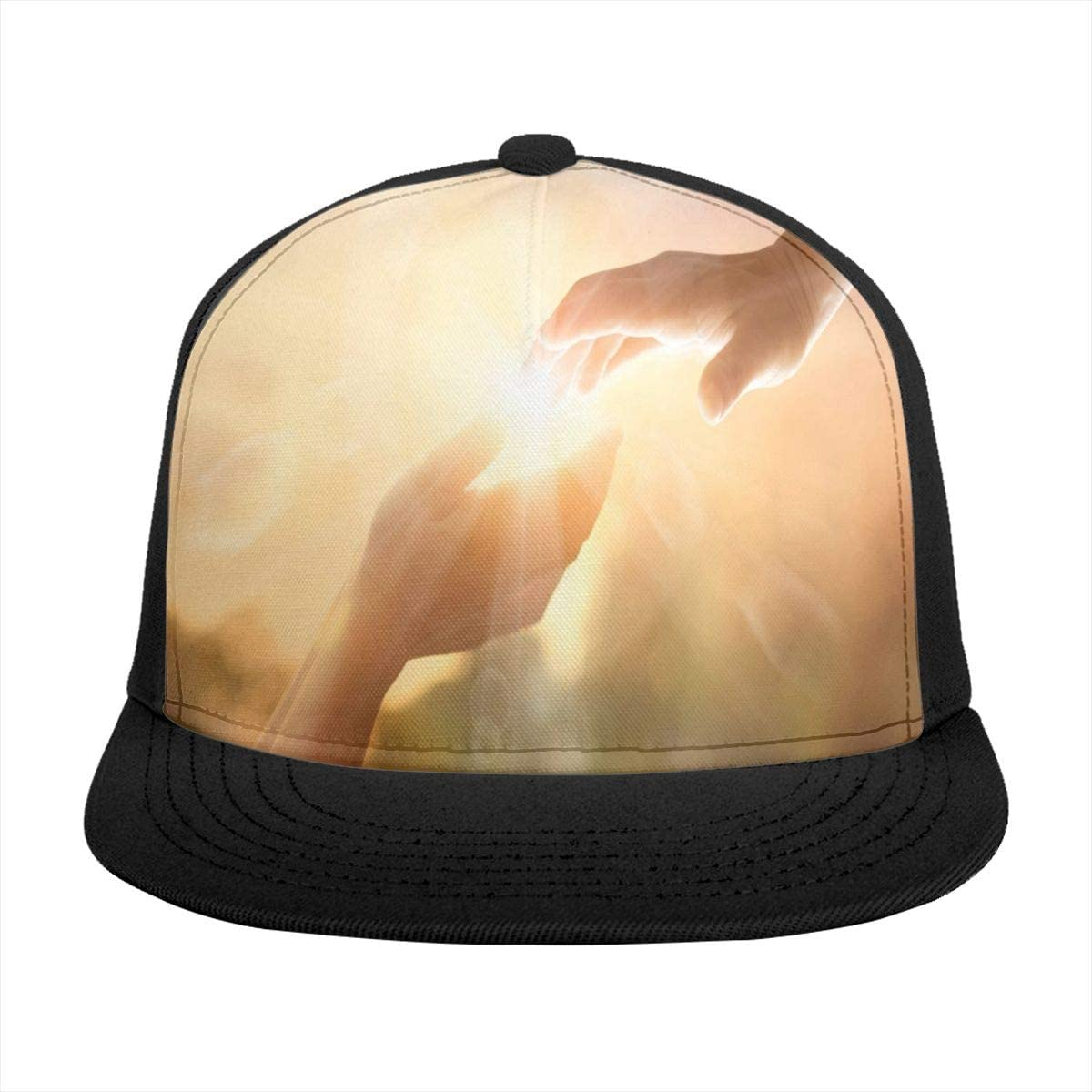 Baseball Cap God's Helping Hand with Sunset Sun Trucker Hats for Women Men Girls Boys Summer