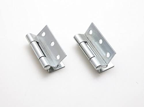 PAIR OF STORMPROOF HINGES BZP 63MM 2 1/2 INCH WITH SCREWS