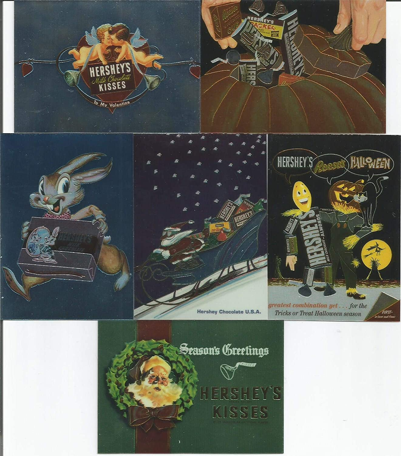 Hershey's Chocolate The Collector's Series Complete 6 FOIL Chase Trading Card Set DART 1995