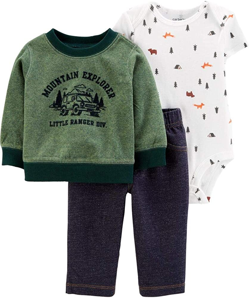 Carters Baby Boys 3-Piece Camping Little Pullover Set - 3 Months