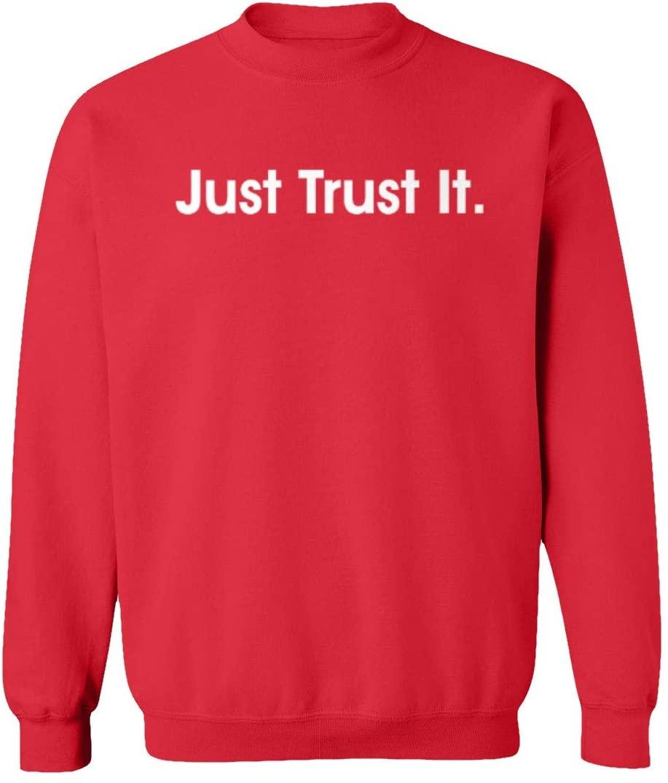 SMARTZONE New Basketball Graphic JUST Trust IT Philadelphia Unisex Youth Sweatshirt Crewneck Sweater (Red, Youth Small)