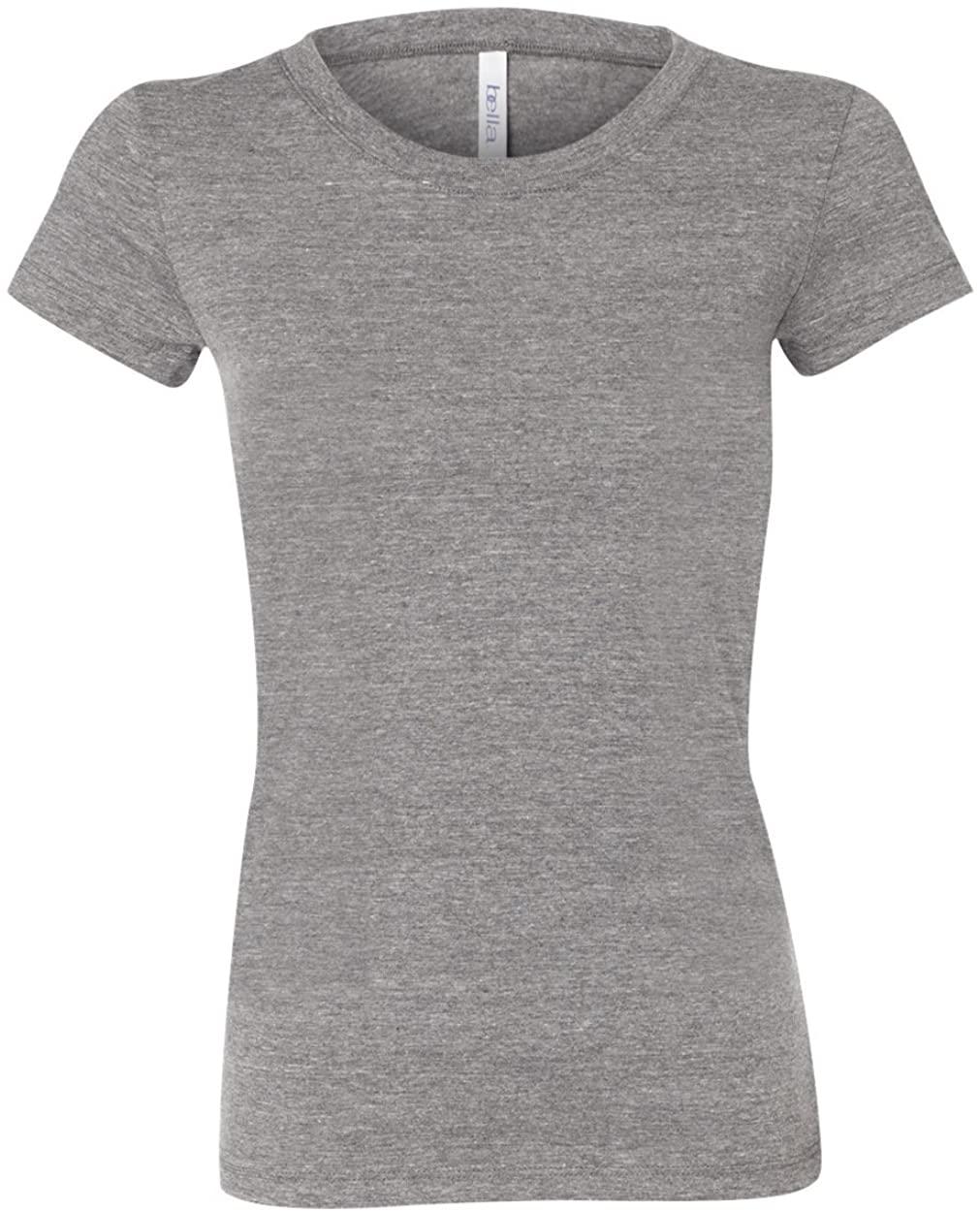 Bella Womens Cameron Tri-Blend Crewneck Short Sleeve T-Shirt - Medium - GREY HEATHER