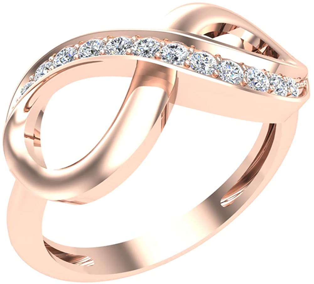 0.15 ct tw Infinity Diamond Ring 14K Gold