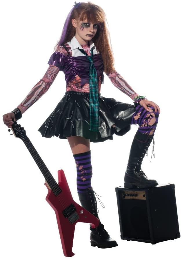 Girl Zombie Punk Rocker #2 Costume, Medium