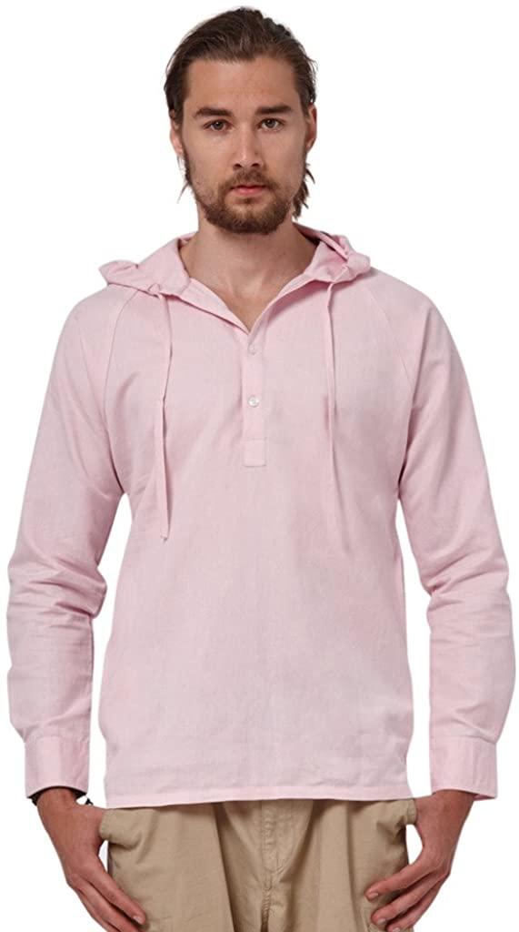 Men Linen Hood Shirt