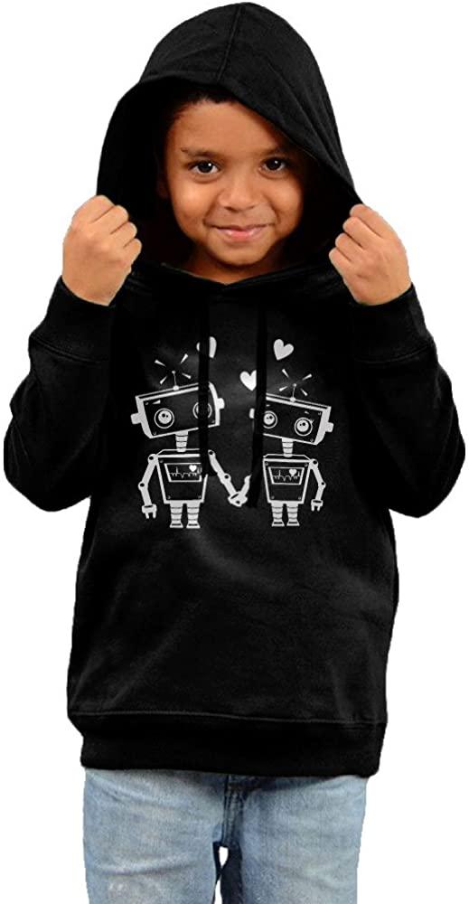 Robot Love Robot Gift Robot Lover Couple Toddler Hooded Sweatshirt
