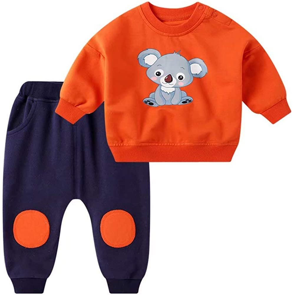 Gorboig Baby Boy Clothes Set Infant Toddler Long Sleeve Tops Pants Sweatshirt 2 Pieces Outfit