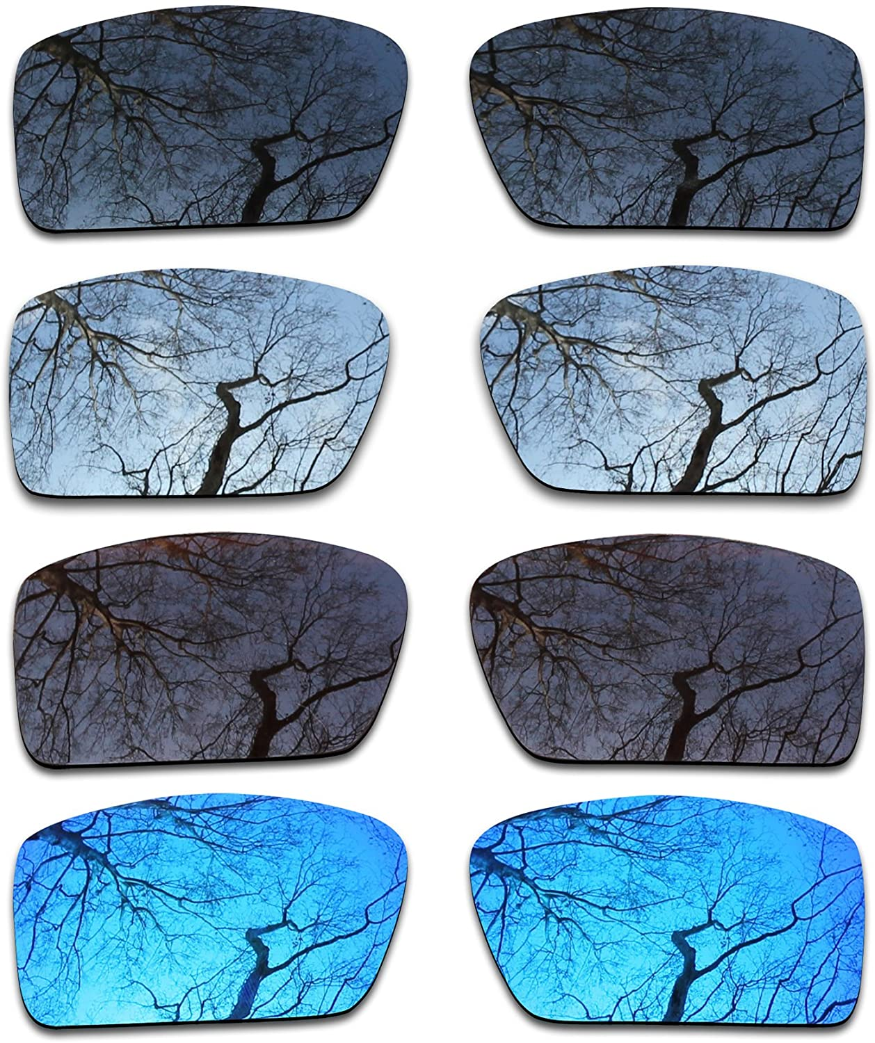 ToughAsNails Set of 4 Polarized Replacement Lenses for Oakley Gascan Pack-BSBI1