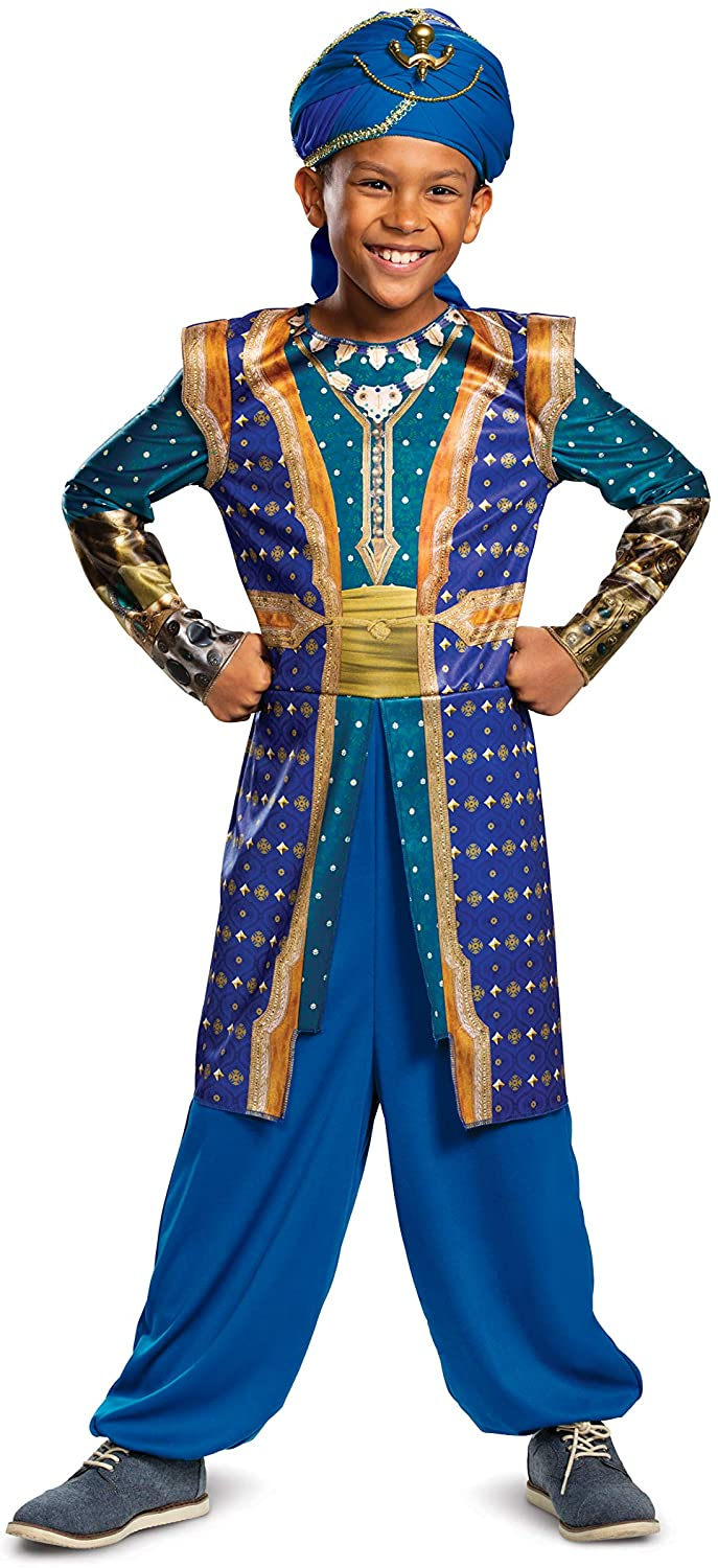 Disguise Disney Genie Aladdin Boys' Costume, Blue, Small (4-6)