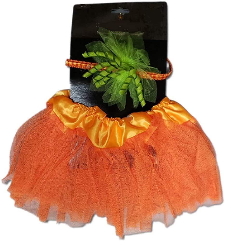Orange Halloween Princess Tutu with Hair Bow Headband Baby Dress Up Set Girls Ages 0-3 Years