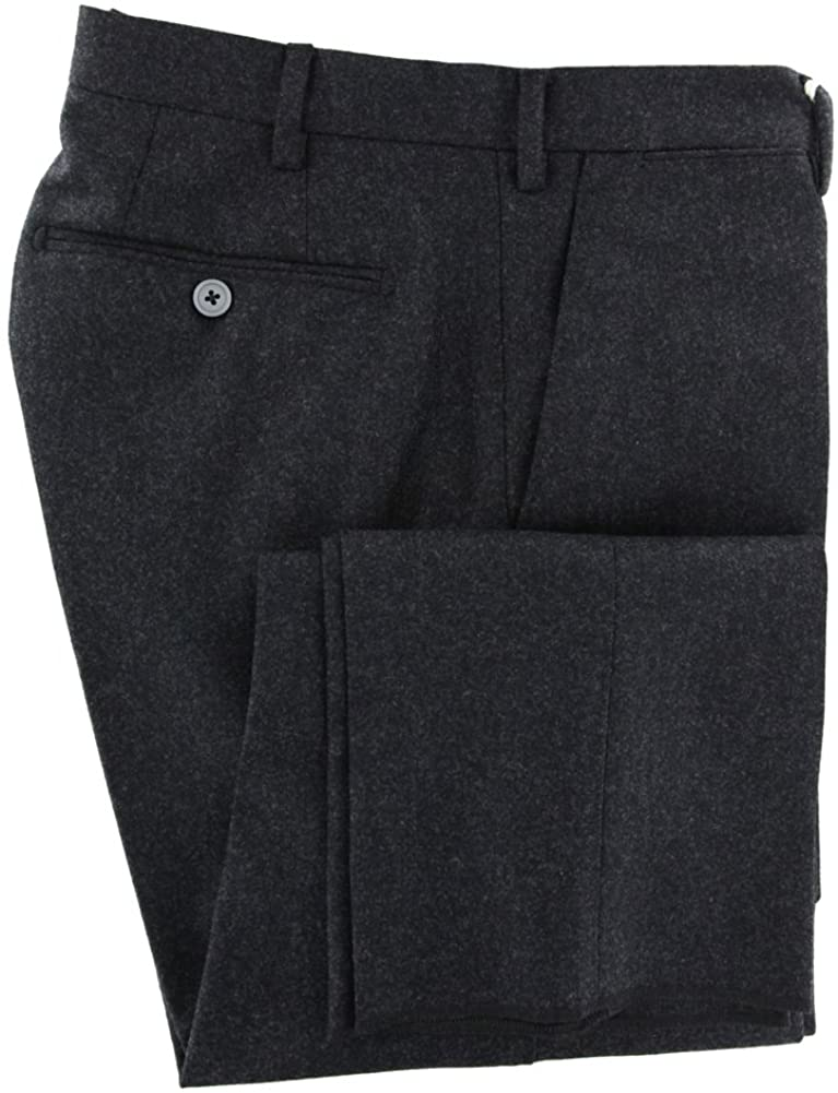 Luigi Borrelli Charcoal Gray Solid Pants - Slim