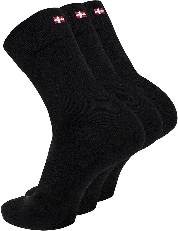 DANISH ENDURANCE Bamboo Dress Socks for Men & Women 3-Pack, Made in EU, OEKO-TEX, Soft, Breathable, Classic