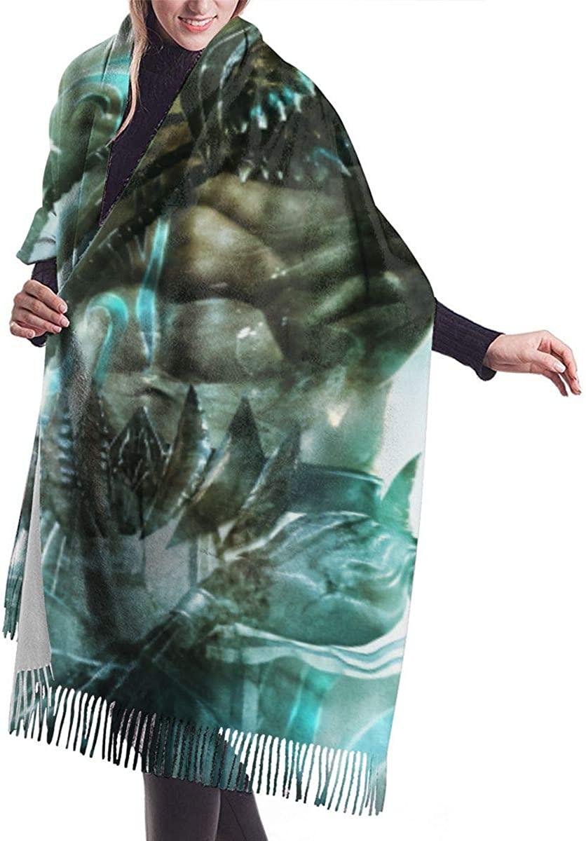 God Of War Unisex Warm Cashmere Tassel Print Scarf