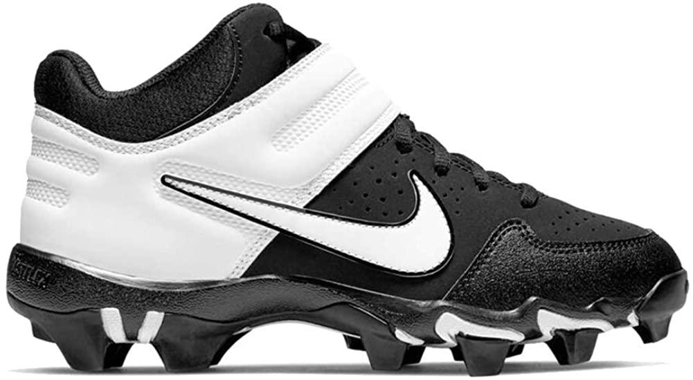 NIKE Alpha Huarache VRS Md Kystn Bg Big Kids Baseball Softball Cleat Ao7582-003 Size 4.5 Black/White