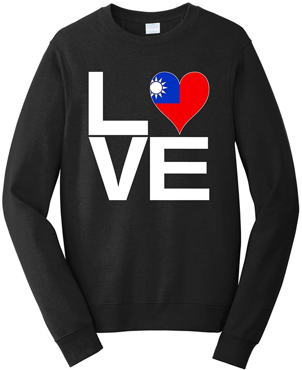 Tenacitee Unisex Love Block Taiwan Heart Sweatshirt