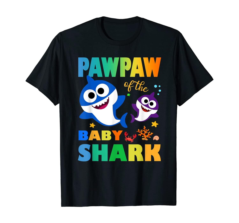 Pawpaw Of The Baby Shark Birthday Pawpaw Shark Fathers Day T-Shirt