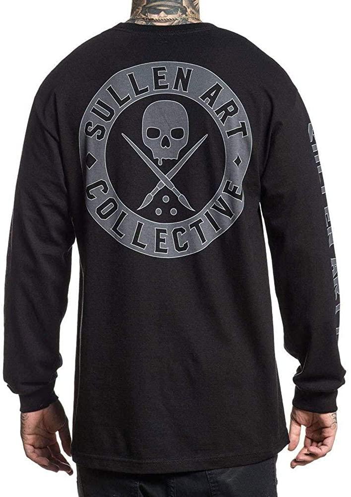 Sullen Men's Badge of Honor Long Sleeve T Shirt Black