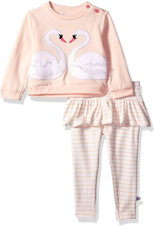 Rosie Pope Toddler Kids Baby Infant Girls 2 Piece Ruffle Sweatshirt Set