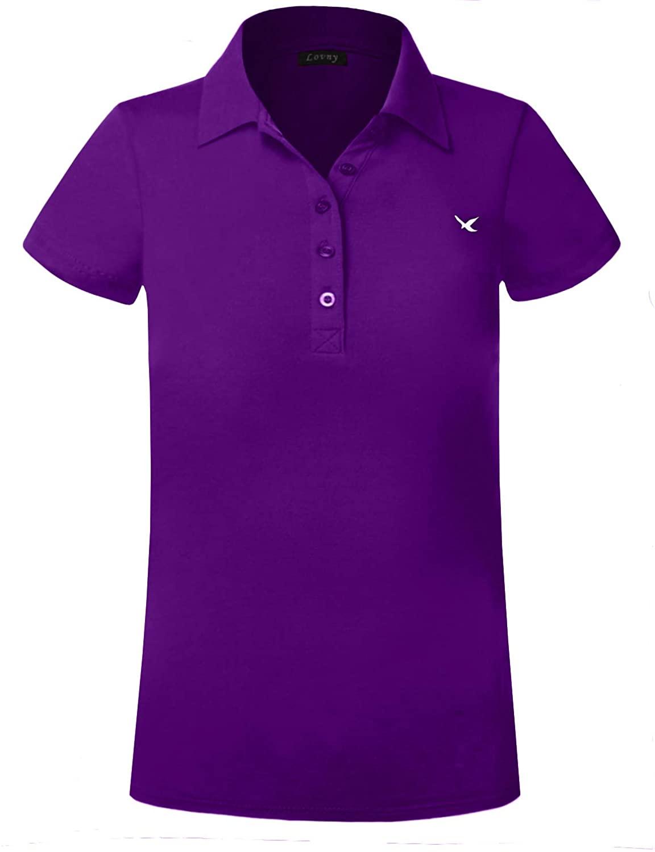 J. LOVNY Girl's Basic Premium Short Sleeves School Uniform Junior Polo Shirts