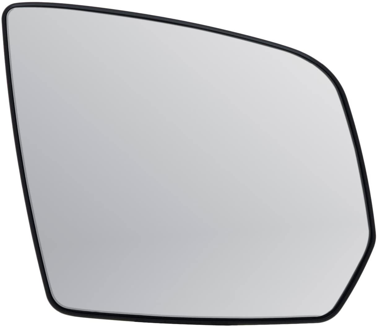 Passenger Side Heated Mirror Glass w/backing plate, Mercedes GL-class, M-class, 5 3/4