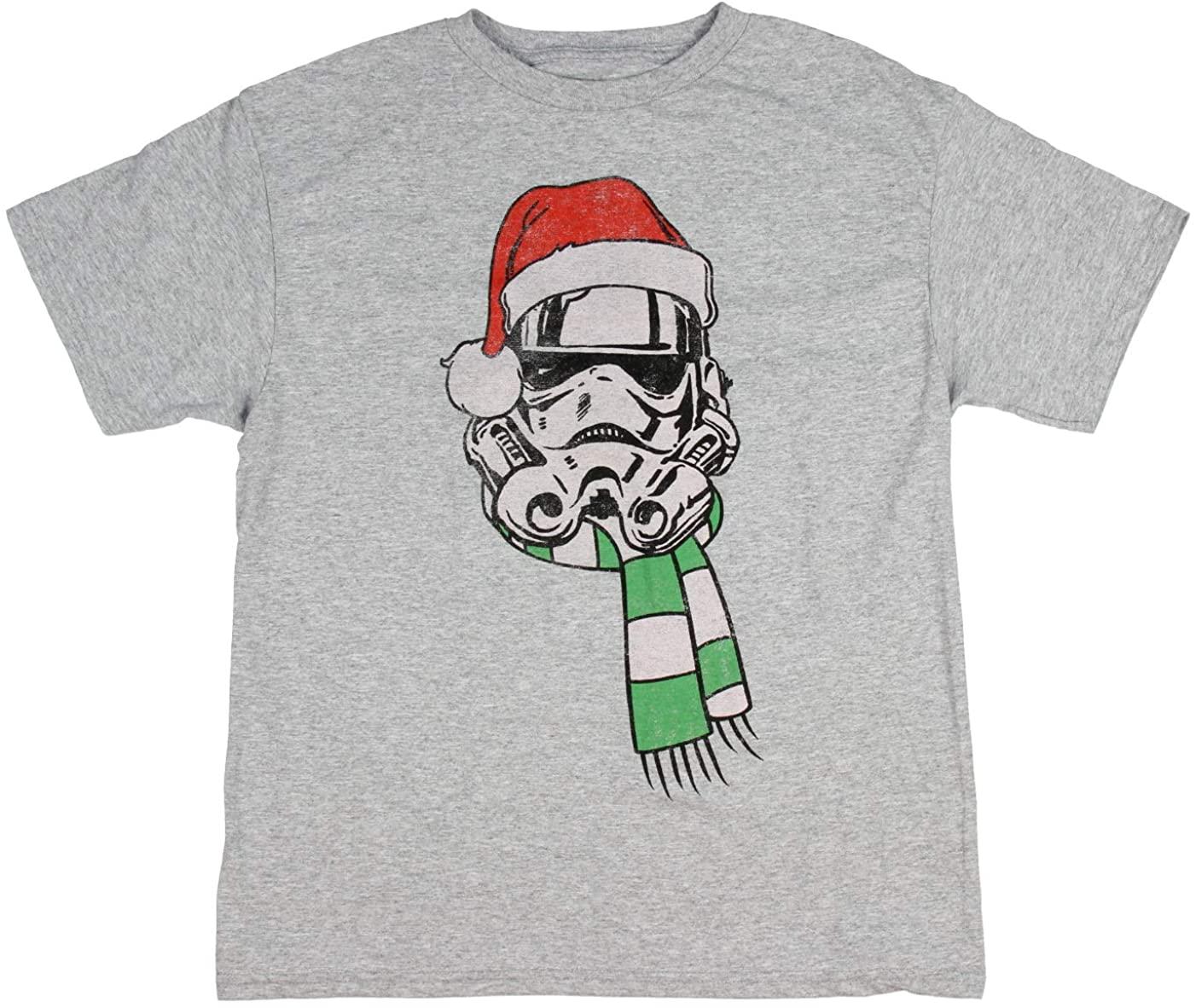 Star Wars Boys' Stormtrooper Santa With Scarf T-Shirt