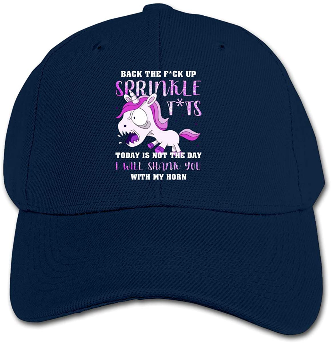 Back The Fuck Up Sprinkle Tits Today is Not The Day Unicorn Nice Children's Chapeau Black Children's Hats