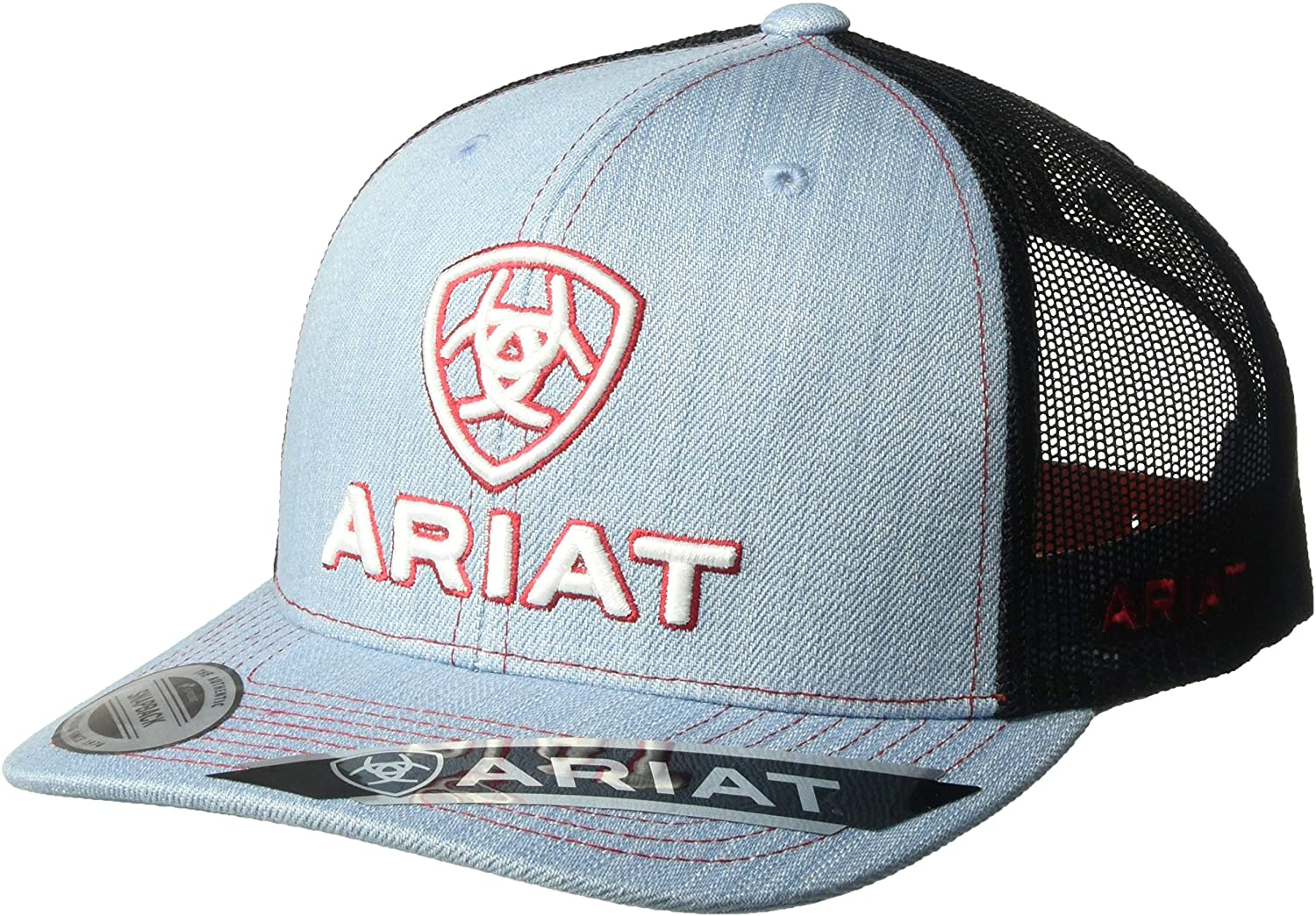 ARIAT Men's Unstructured Mesh Back Shadow Cap, Blue, One Size