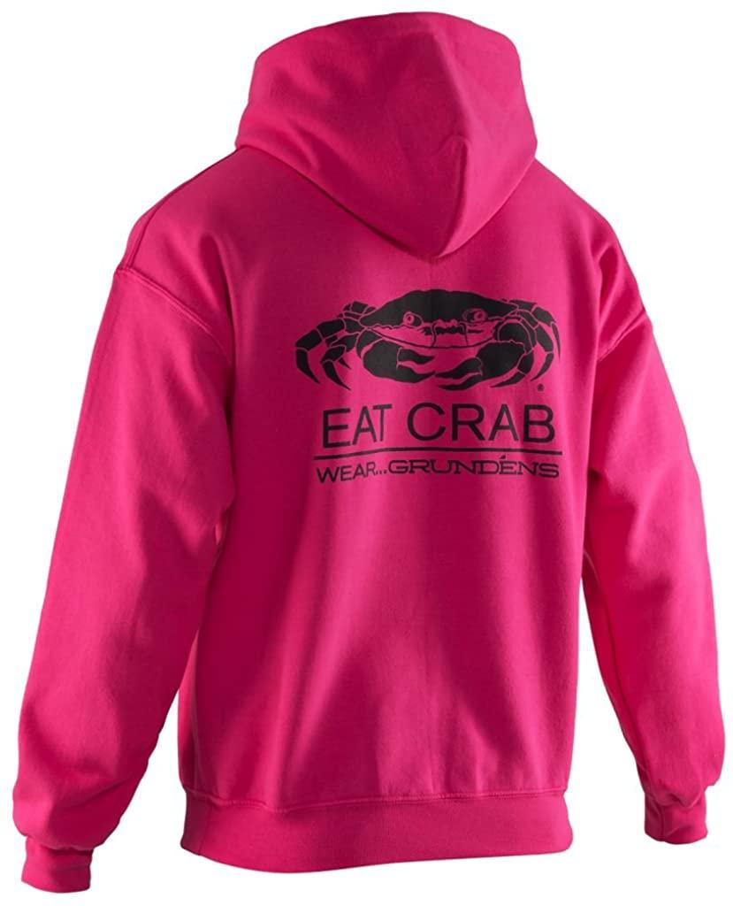 Grunden's Men's Eat Crab Hooded Sweatshirt