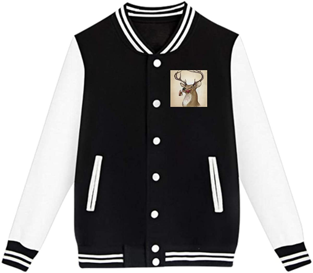Zombie Deer Baseball Jacket Custom Fleece Varsity Uniform Sport Coat for Youth