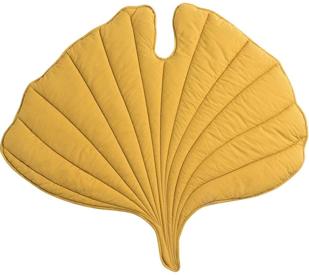 GGYDD Children Creative Crawling Mat,Cotton Tatami Floor Mat Bay Window Mat Baby Play Mat Cushion Low-Profile Pad-Yellow Diameter:100cm