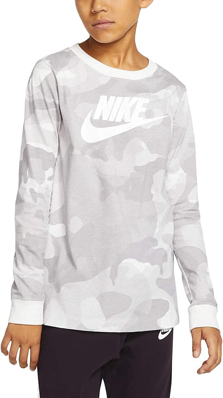 Nike Big Boys Cotton Camo-Print Long-Sleeve T-Shirt