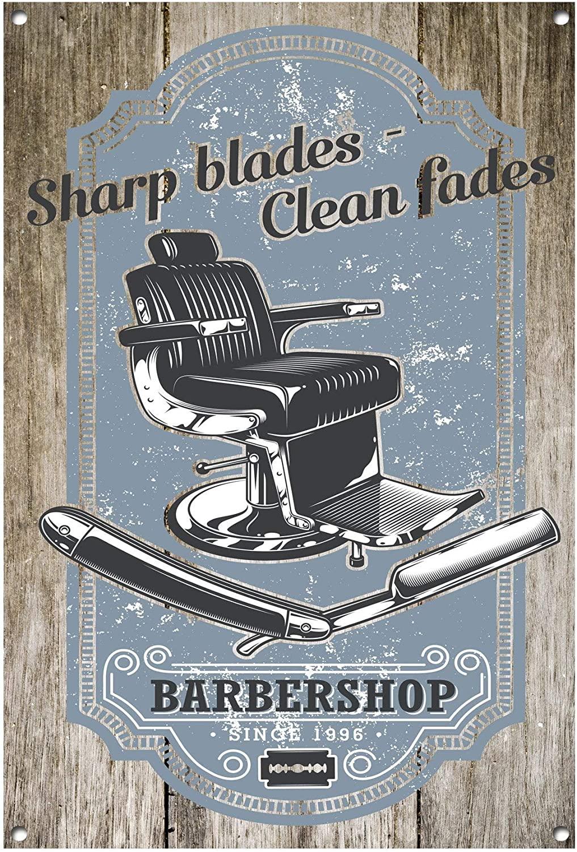 None Brand Barber Metal Sign Barber Shop Barber Shop Sign Barber Shop Decor Salon Decor Salon Sign Hairdressing Wall Art 1081