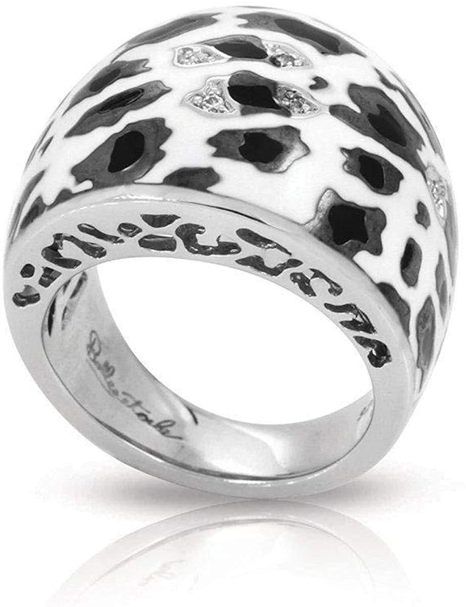 Belle Etoile Leopard Ring Black & White