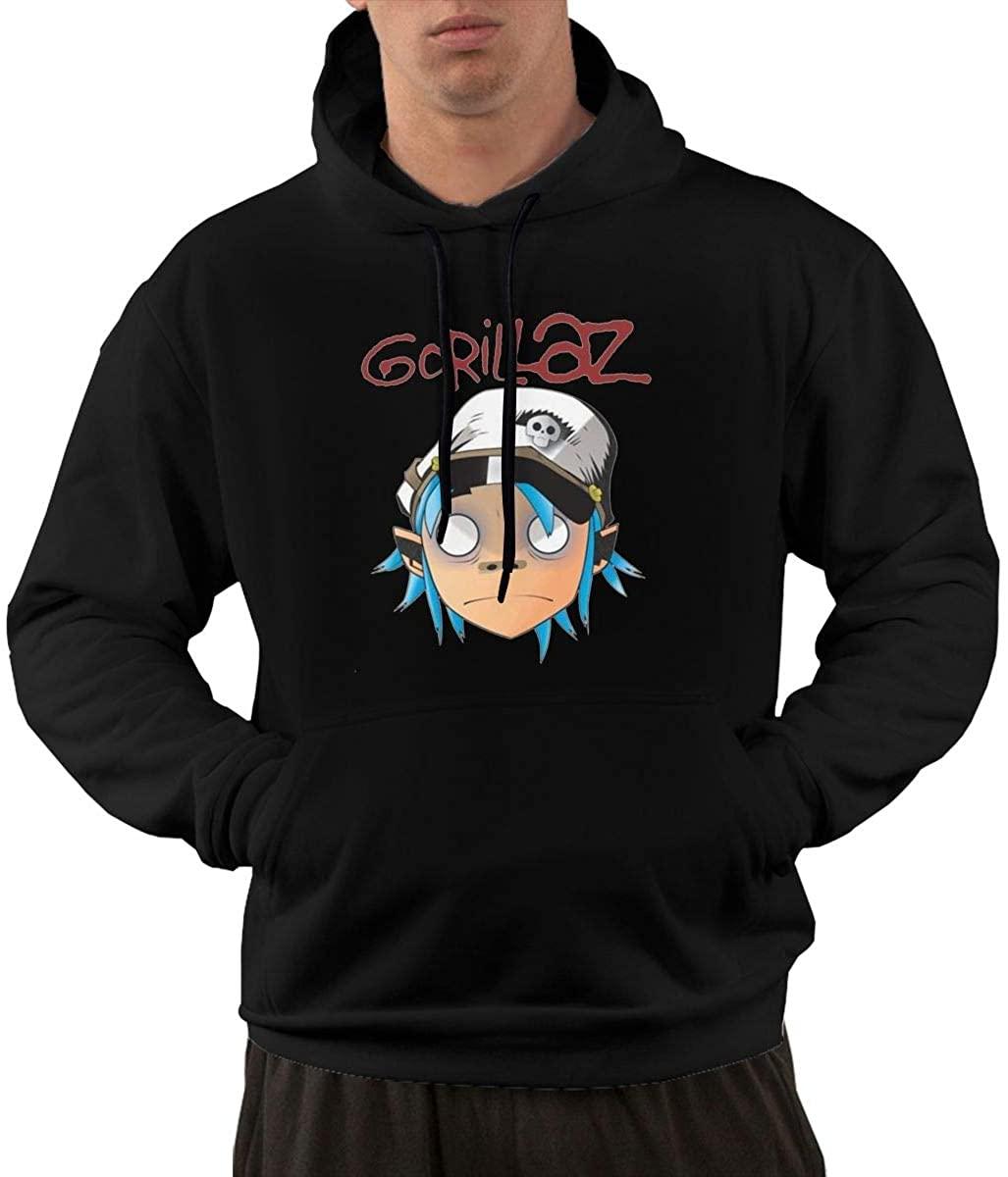 BRADLEY BOWEN Men's Gorillaz Crew Neck Personality Sweatshirt with Pocket