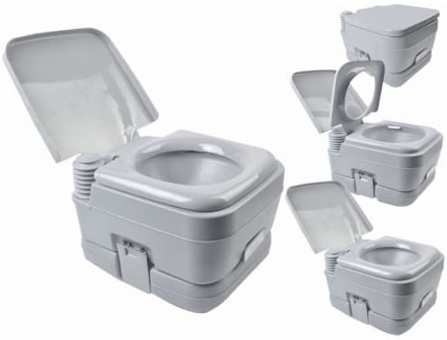 NPLE--2.8 Gallon 10L Portable Toilet Travel Camping Outdoor/Indoor Toilet Potty Flush