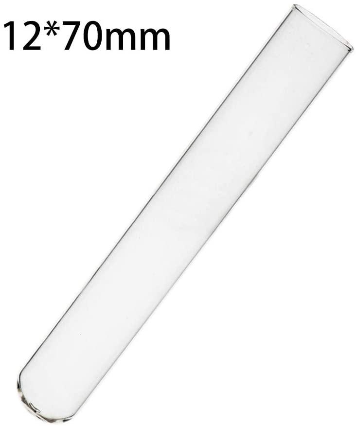 JIANFEI LIANG 60pcs- 6ml Clear Glass Test Tubes 1270mm Flat Mouth Heat Resistant Laboratory Chemistry Lab Tubes (Size : 6ml)