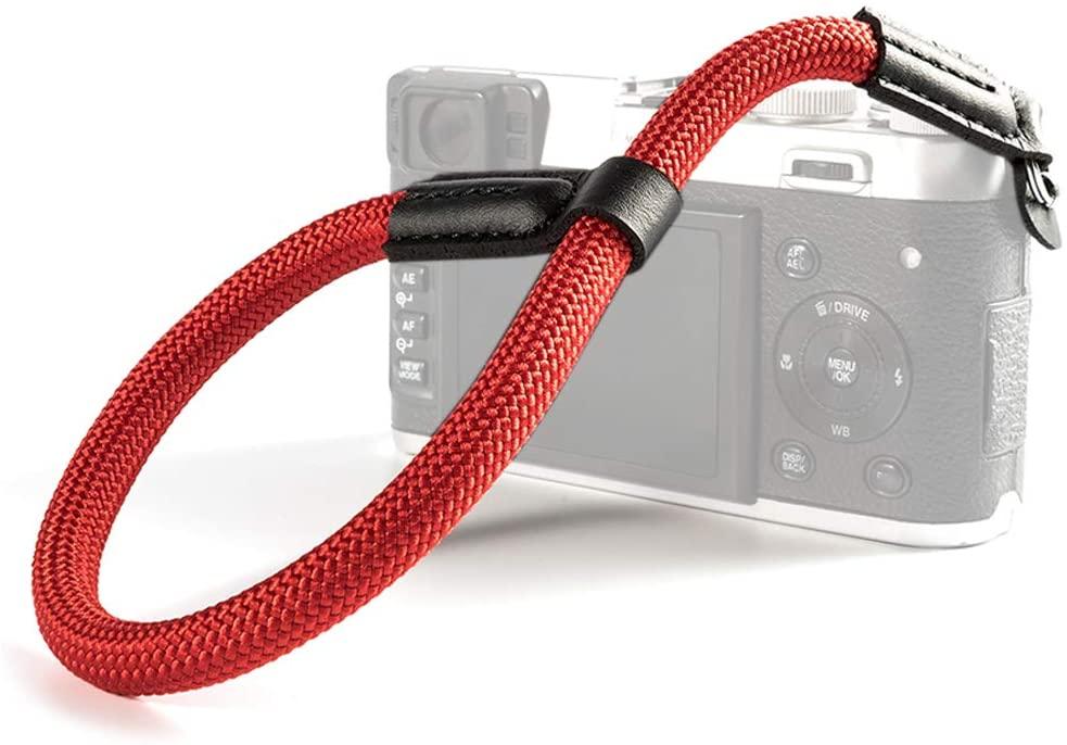 VKO Camera Wrist Strap, Hand Strap Compatible with Sony A6100 A6400 A6000 A6300 A6500 X-T30 X-T4 X-T3 X100F X-T20 X-T2 X100S E-M10 Mark II III M5 M6 Camera Climbing Rope Red