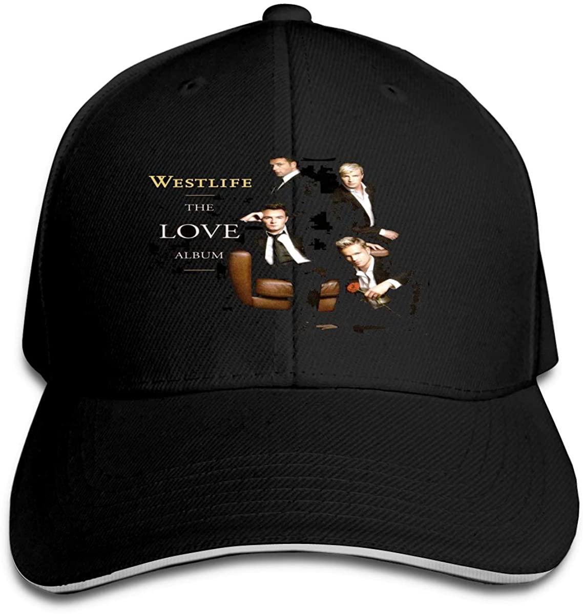 N/C Westlife Men Womens Baseball Cap Washed Cotton Adjustable Hat