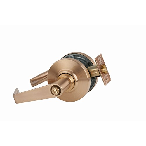 Schlage Commercial AL53SAT612 AL Series Grade 2 Cylindrical Lock, Entry Function Turn/Push Button Locking, Saturn Lever Design, Satin Bronze Finish