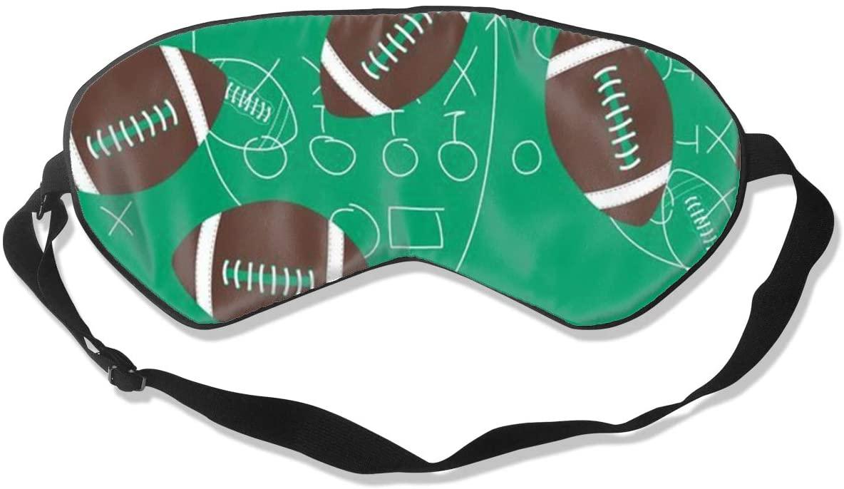 Sleep Eye Mask For Men Women,Football Scrimage Soft Comfort Eye Shade Cover For Sleeping