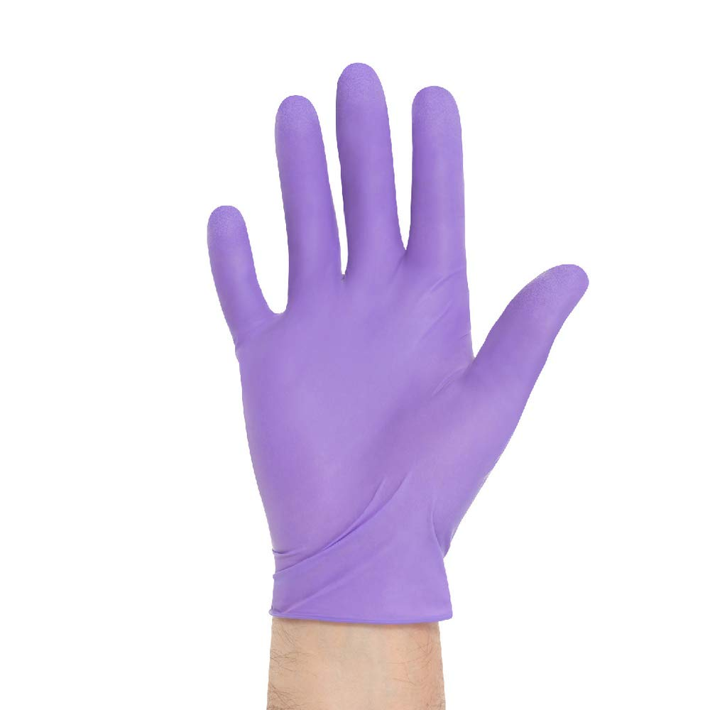 Halyard Health 55080-bx Nitrile Powder-Free Exam Gloves, XS, Shape, Small, Purple (00)