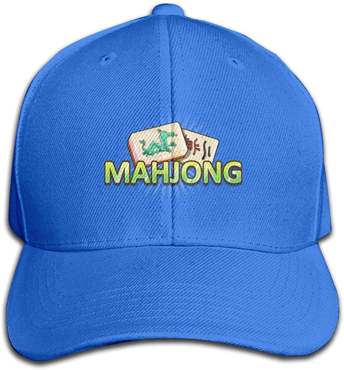 Quafoo Mahjong Sign Logo Outdoor Baseball Cotton Snapback Adjustable Hat for Unisex Navy