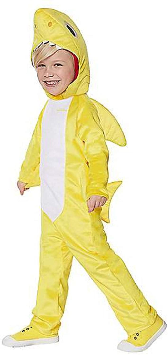 Toddler Baby Shark Jumpsuit Costume with Sound Size 2T-4T Yellow