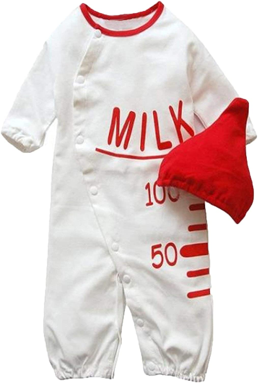 Bilo Milk Bottle Costume Baby Romper and Hat 2-piece